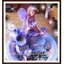 Fuente De Agua Hada Con Cascada Con Luces De Colores
