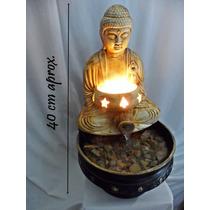 Fuente De Agua Feng Shui Buda + Lámpara De Cuarzo Artenora