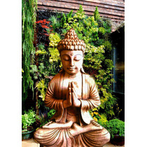 Bellísimo Buda Gigante Orando Resina ( No Yeso)