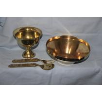 Vajilla Antigua En Bronce Fuente-copón-cubiertos Todo $695