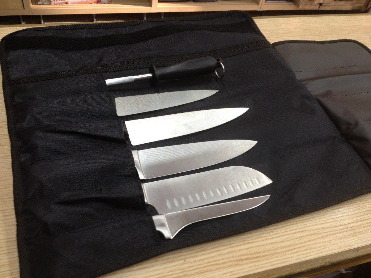 La toque blanche uniformes accesorios - Manta para cuchillos ...