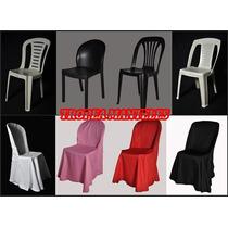 Funda A Medida Para Silla Plástica Ideal Salones, Eventos