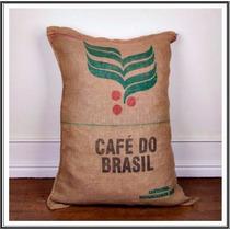 Bolsa Arpillera Cafe Do Brasil X10 Unidades. Envio Gratis!!!
