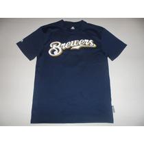 Remera Baseball Milwaukee Brewers Majestic Talle S