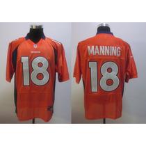 Camiseta Nfl Broncos Naranja 18 Manning