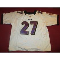 Camiseta Nike Nfl Football Americano Ravens Rice #27 Onfield