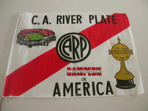 Futbol Bandera De River Plate Campeon Copa Libertadores 1986