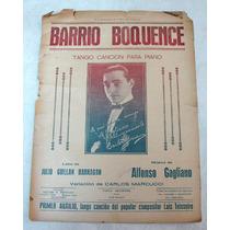 Partitura Barrio Boquence A La Muchachada De La Boca