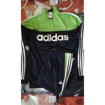 Conjunto Adidas Originals 100% Autentico Azul Y Verde