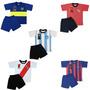 Pijama Club Futbol A Eleccion Equipo Niños Remera Short