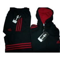 Conjunto Adidas 100 % Algodon Campera C/capucha + Pantalon.