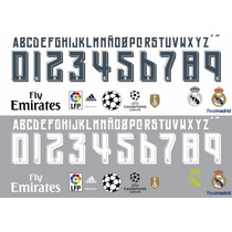 Estampado Numeros Y Nombres Real Madrid 2016
