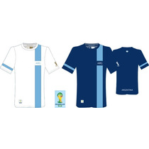 Remera Argentina Fifa Line World Cup Brazil 2014 100%oficial