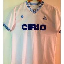 Camiseta Napoli Maradona Cirio.1984. Retro. 10 En Cuero