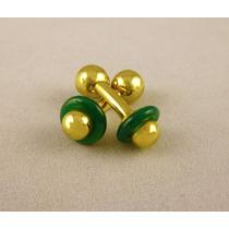 Gemelos De Oro Con Jade