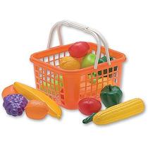 Canasta Con Frutas Y Verduras De Juguete