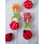 Chupetín Flor + Prendedor A Crochet. Dia De Los Enamorados!