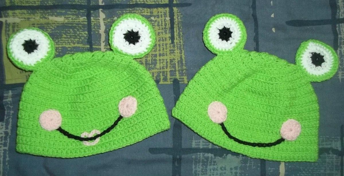Gorro Tejido Al Crochet - Sapo Pepe - $ 90,00 en MercadoLibre