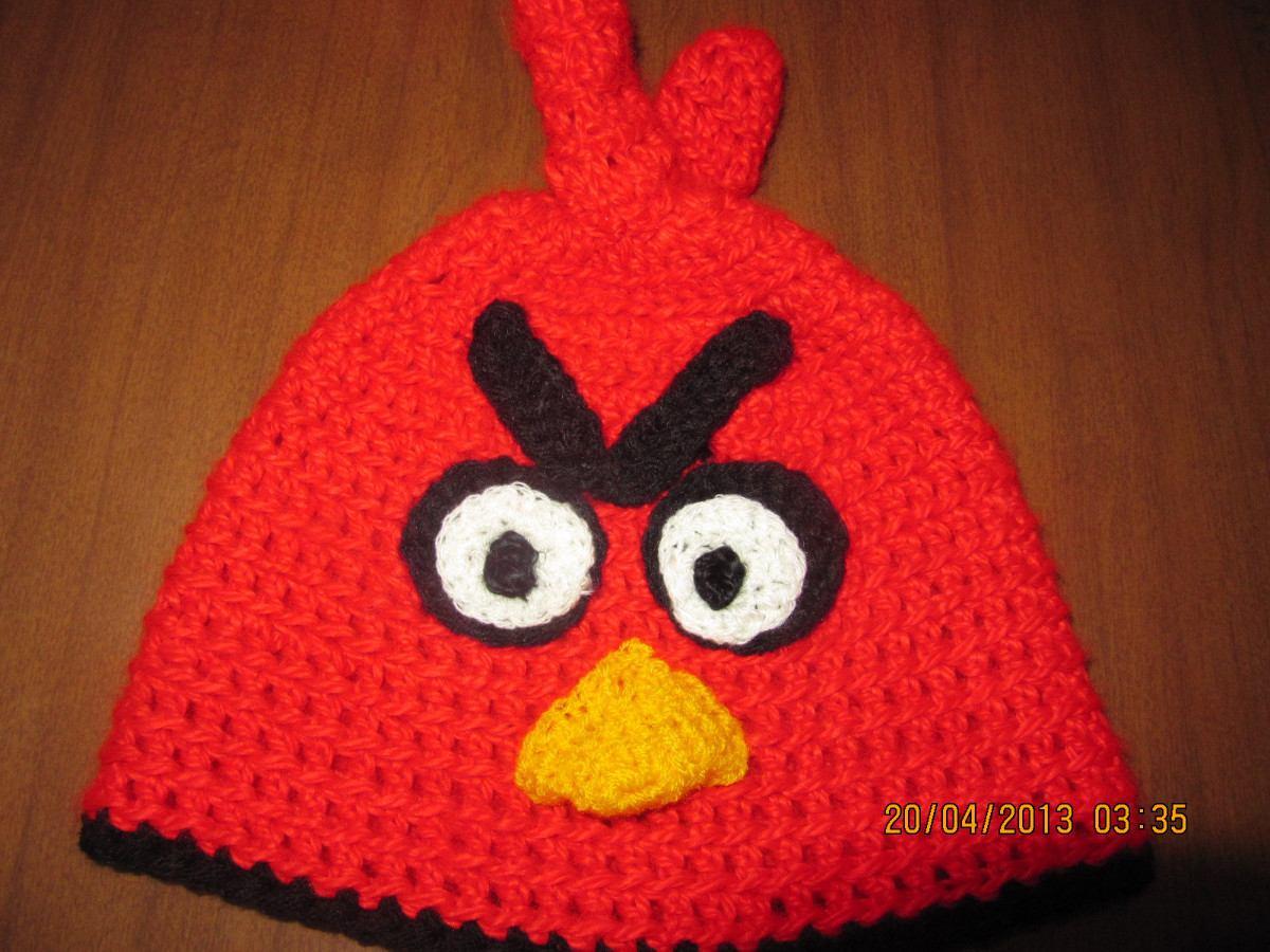 Gorros Angry Birds Tejidos A Mano - $ 75,00 en MercadoLibre