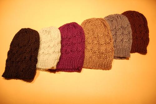 Gorros De Lana Tejidos Al Crochet