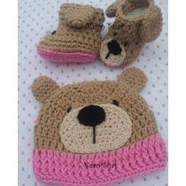 Botitas Con Gorro Conjunto Tejido A Crochet
