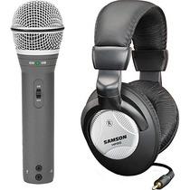 Kit Samson Q2u Micrófono Dinámico Usb Auriculares Accesorios