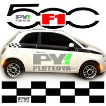 Kit Calcos Fiat 500 Franjas F1 - Calcomania Ploteoya!