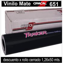 Vinilo Negro Mate Oracal 651 Colores 0,63x1m Autos Traker