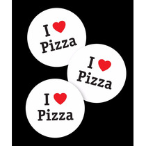 Pizza Calco Cartel Auto Vinilo Autoadhesivo I Love Pizza