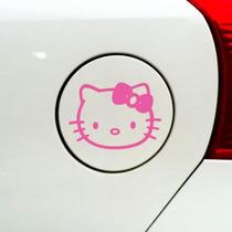 Calcos Pack X 3 Tapa Nafta + Espejos Auto Kitty Mujer