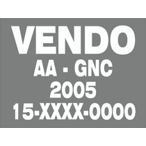 Cartel Vendo Auto Calcos Calcomania Ploteo Vinilos-x3 Unid-