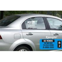 Cartel Vendo Auto / Moto Casco, Sticker Vinilo X 3 Unidades.