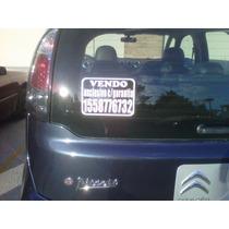 Cartel Vendo Auto Por 3 / Calco Vendo Auto Por 3. Oferton !!