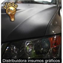 Vinilo Fibra Carbono 50x152cm Autos/capot/techo Moto Ploteos