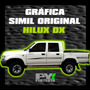 Calco Toyota Hilux Dx Calcomania Ploteoya! Por Lateral