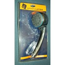 Duchador Mano Regulable + Flexible + Soporte Griferia Latina