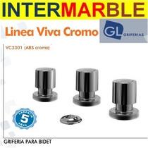 Griferia Latina Bide Baño Viva Cromo C/transf 5 Años Gtia
