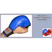 Karate Guantin Competencia Azul Rojo Y Negro