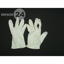 Guantes P/dama Jersey Algodón Usados T 7 Made In Philippines