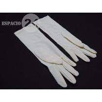 Guantes Nuevos P/dama Jersey Nylon Spandex Color Blanco T 8