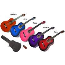 Guitarra Criolla + Set Funda, Puas Y Afinador + Envios
