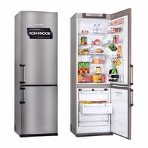 Heladera Con Freezer Kohinoor Kgx-4094 Acero 2 Motores 368lt
