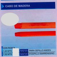 Cabo De Madera Cepillo De Barrendero Na 2124 Con Rosca