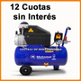 Compresor Aire Motomel 24 Litros 8 Bar 1500w 12 Cuotas S Int