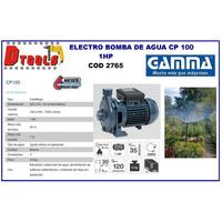 Bomba Centrifuga De Agua Gamma Motor 1 Hp Protector Termico