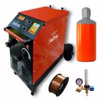 Mig Mag 250m Solmec + Tubo 2,5 M3 +regulador +rollo 5kg 0.8