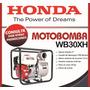 Motobomba Naftera Honda Wb30xh - Honda Quilmes