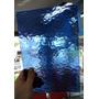 Vidrio De Color Martele Azul Nac. 20x30cm