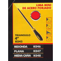Lima Mini De Acero Forjado Media Caña Black Jack K084 #