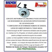 Medidor De Grados Goniometro Bremen Encastre 1/2 Mecanica